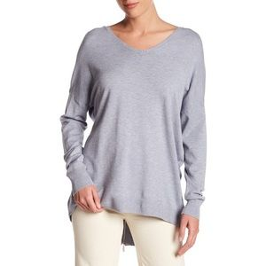 Dreamers by Debut Zip Back Sweater in Heather Blue